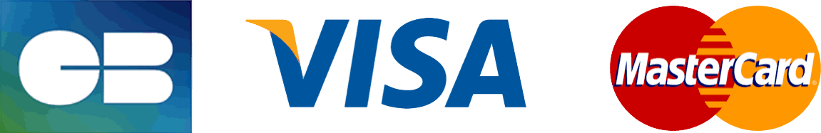 Accepté: CB, MasterCard, Visa